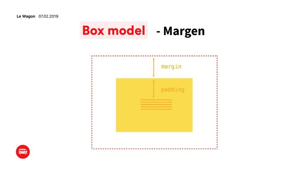 Le Wagon 07.02.2019 - Margen Box model