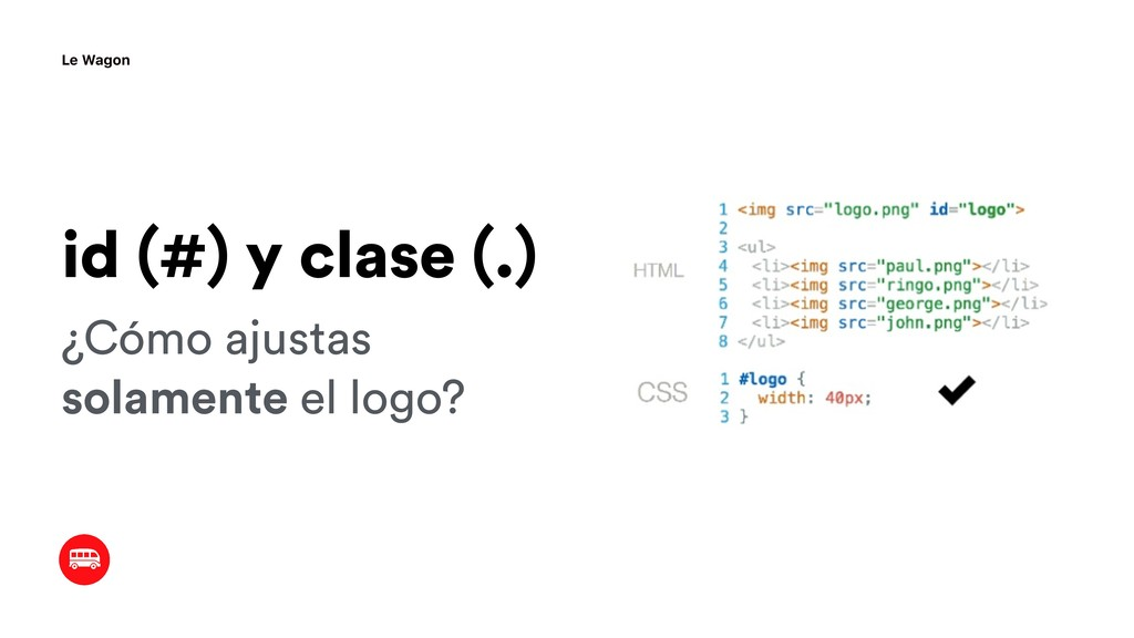 ¿Cómo ajustas solamente el logo? id (#) y clase...