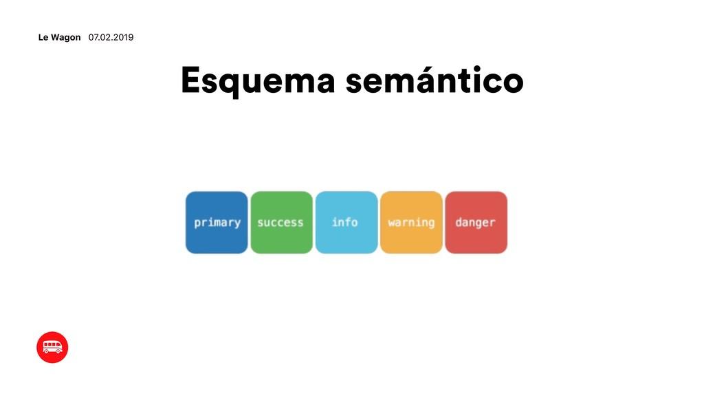 Esquema semántico Le Wagon 07.02.2019