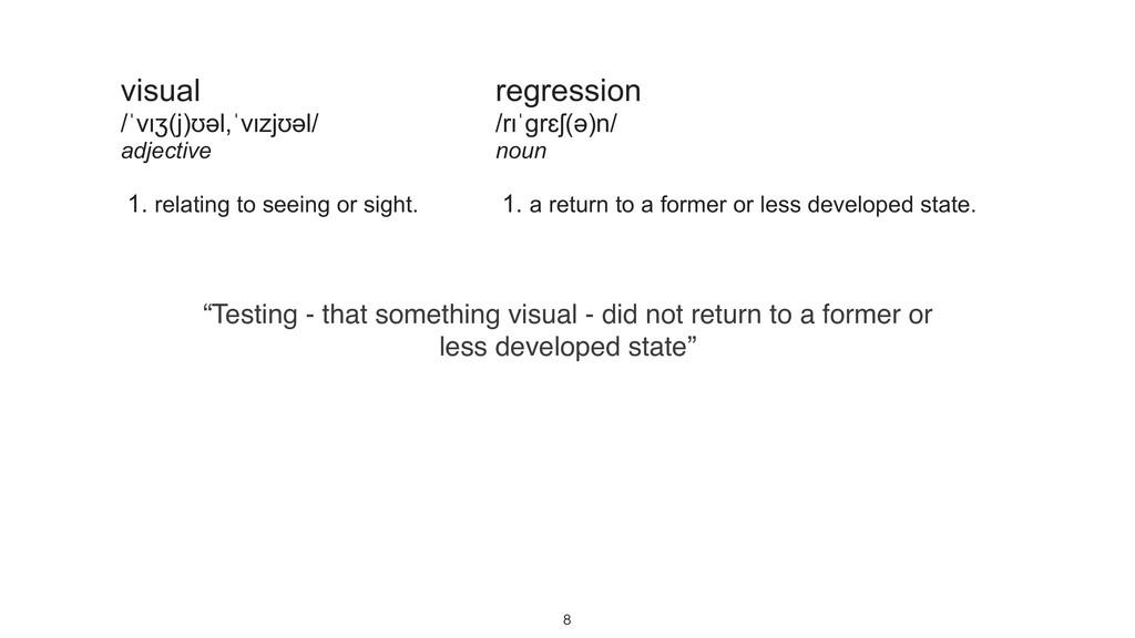 """""""Testing - that something visual - did not retu..."""