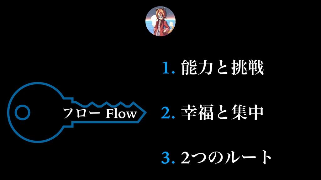 1. ྗͱઓ 2. ͱूத 3. 2ͭͷϧʔτ ϑϩʔ Flow