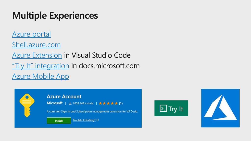 """Azure portal Shell.azure.com Azure Extension """"T..."""