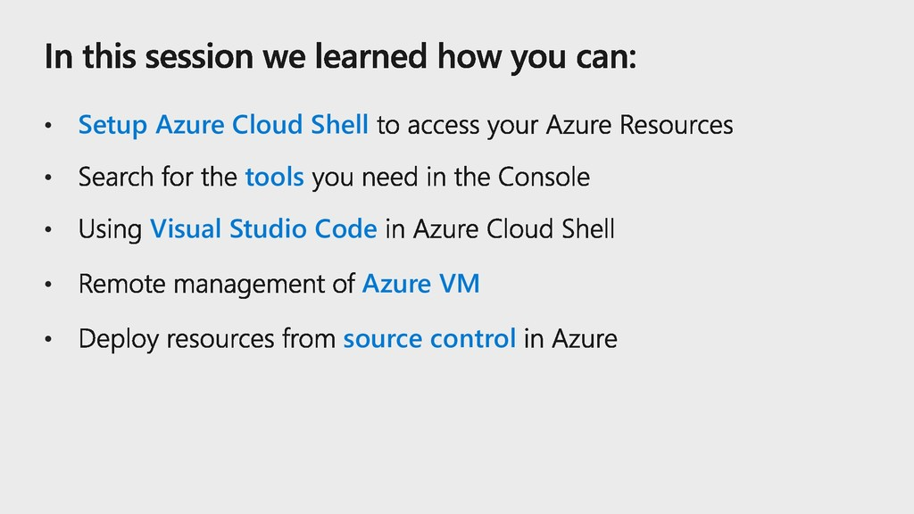 • Setup Azure Cloud Shell • tools • Visual Stud...