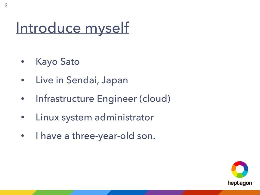 Introduce myself • Kayo Sato • Live in Sendai, ...