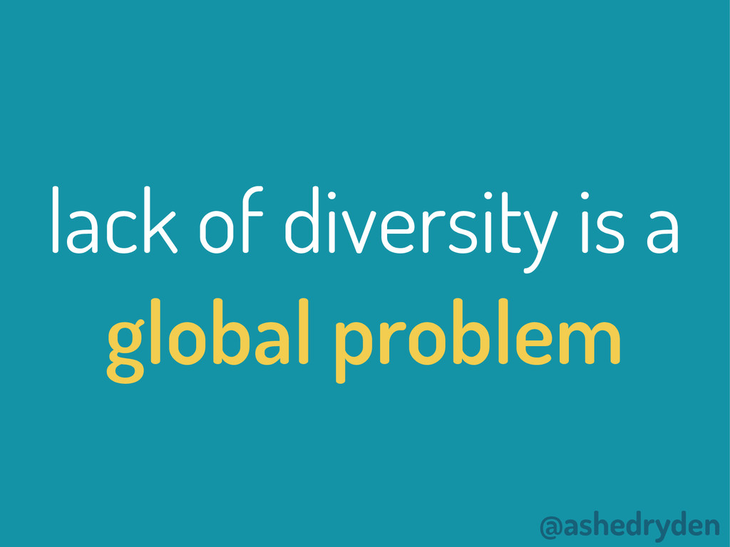 @ashedryden lack of diversity is a global probl...