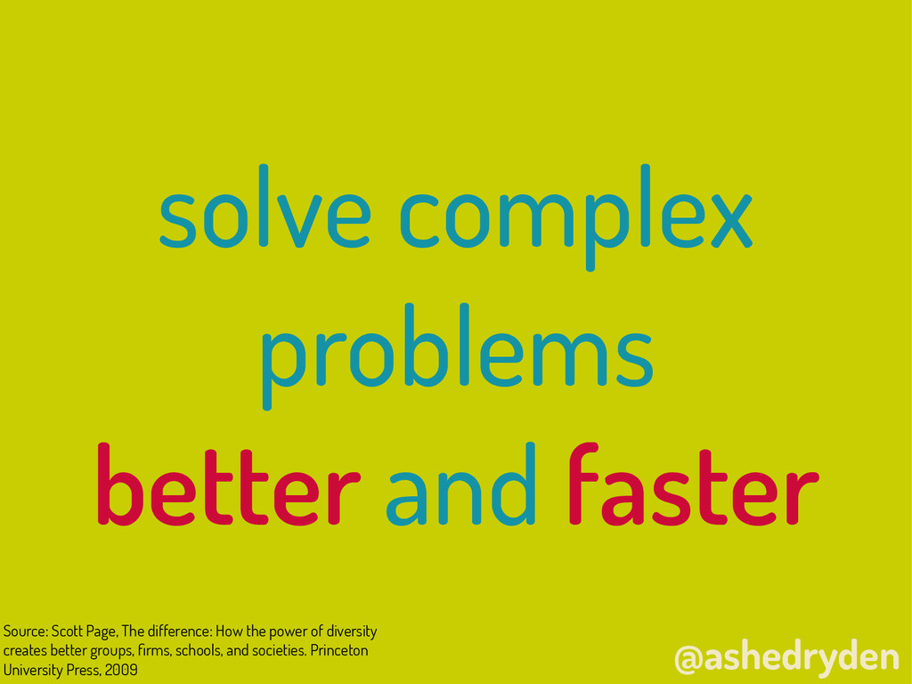 @ashedryden solve complex problems better and ...