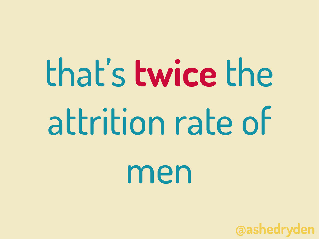 @ashedryden that's twice the attrition rate of ...