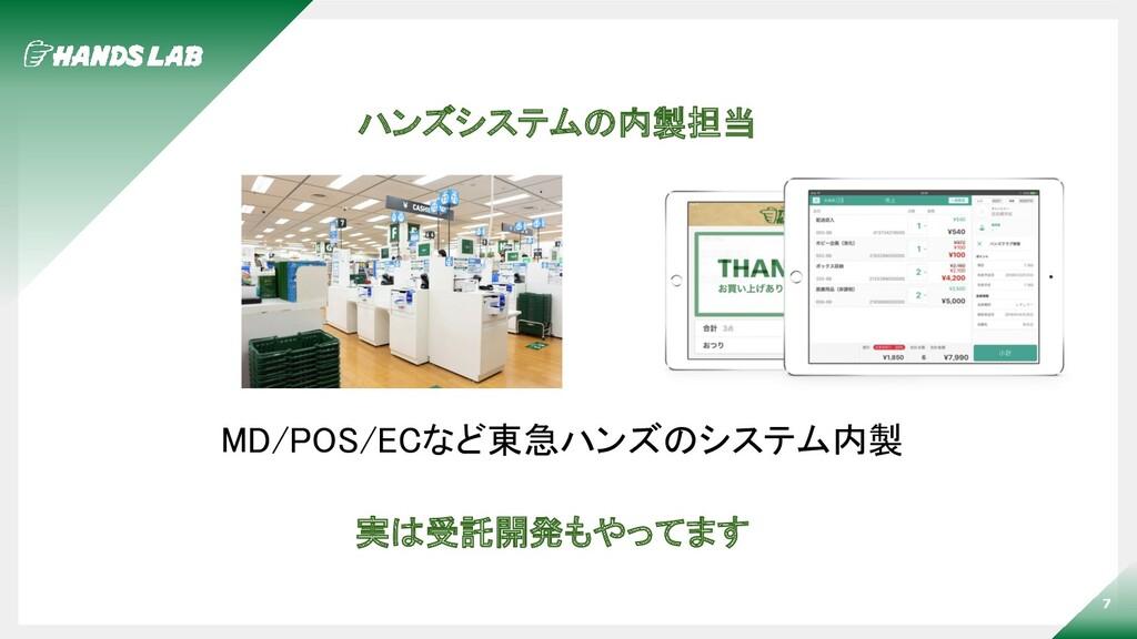 7 ハンズシステムの内製担当 MD/POS/ECなど東急ハンズのシステム内製 実は受託開発も...