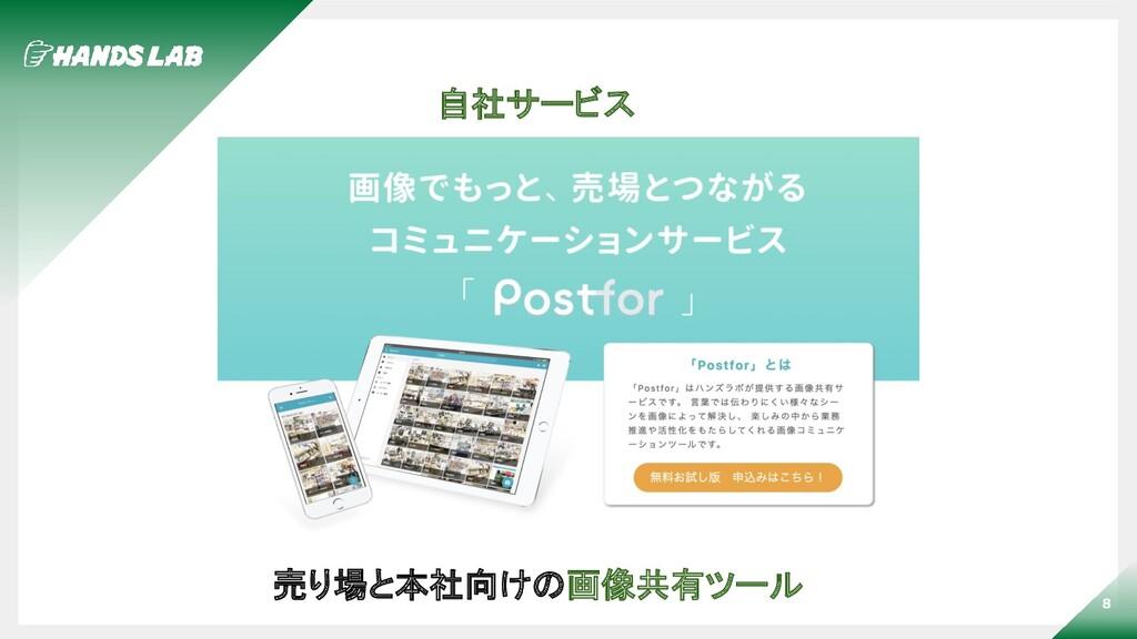 8 自社サービス 売り場と本社向けの画像共有ツール