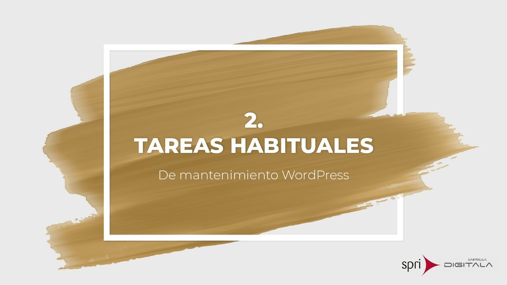 2. TAREAS HABITUALES De mantenimiento WordPress