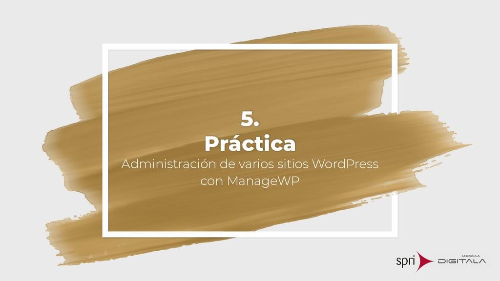 5. Práctica Administración de varios sitios Wor...