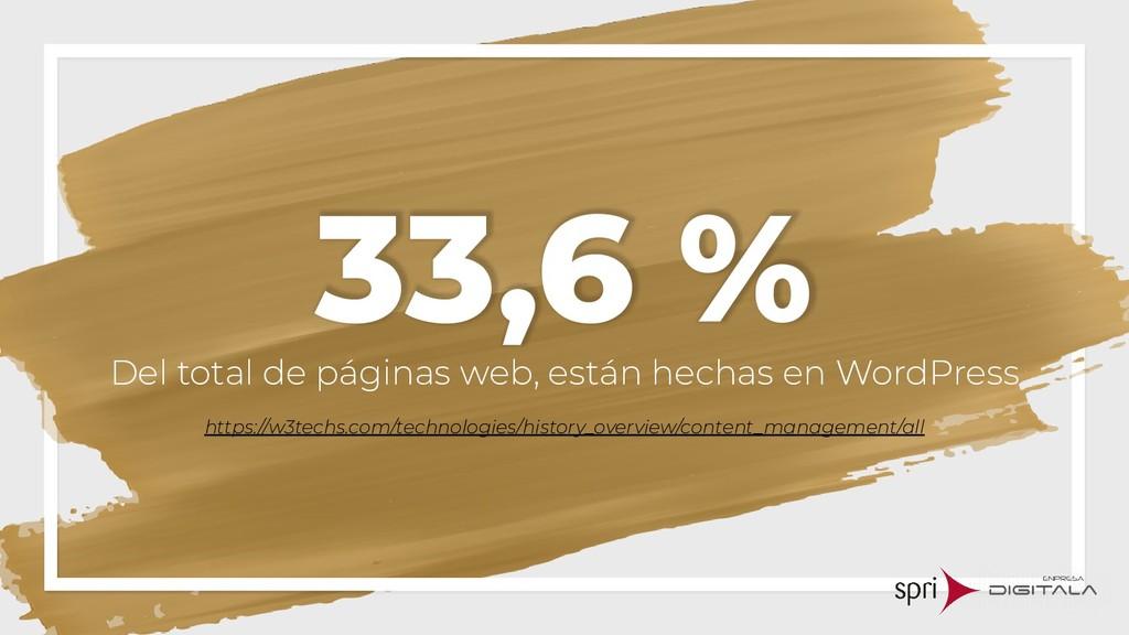 33,6 % Del total de páginas web, están hechas e...