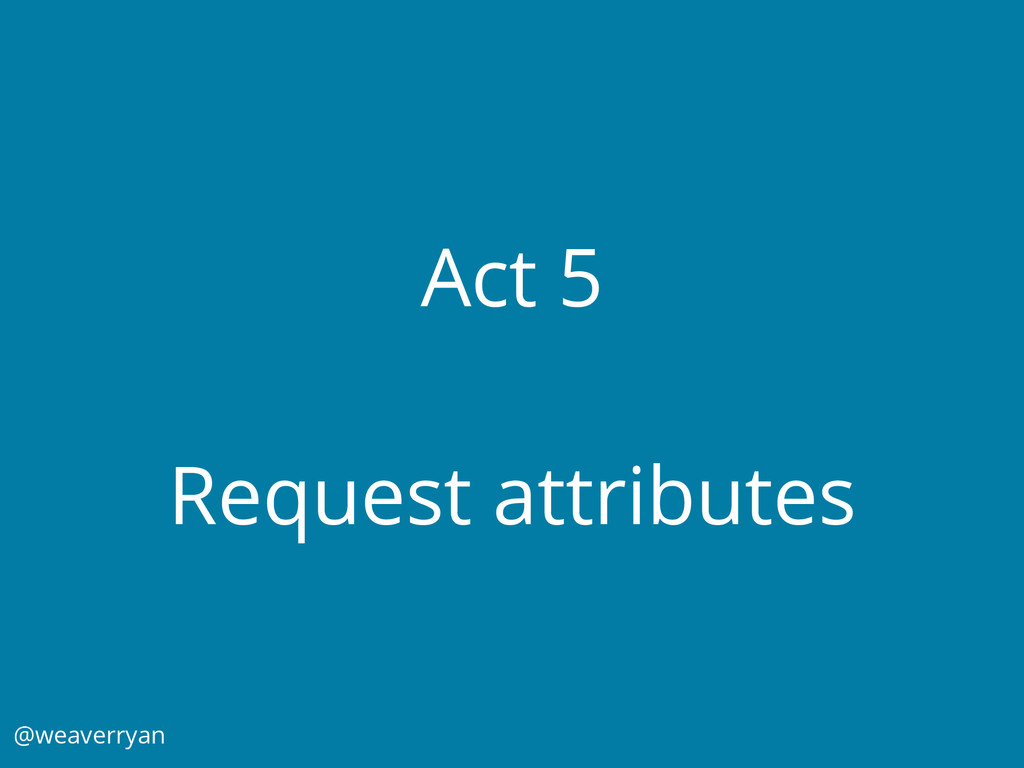 Act 5 Request attributes @weaverryan