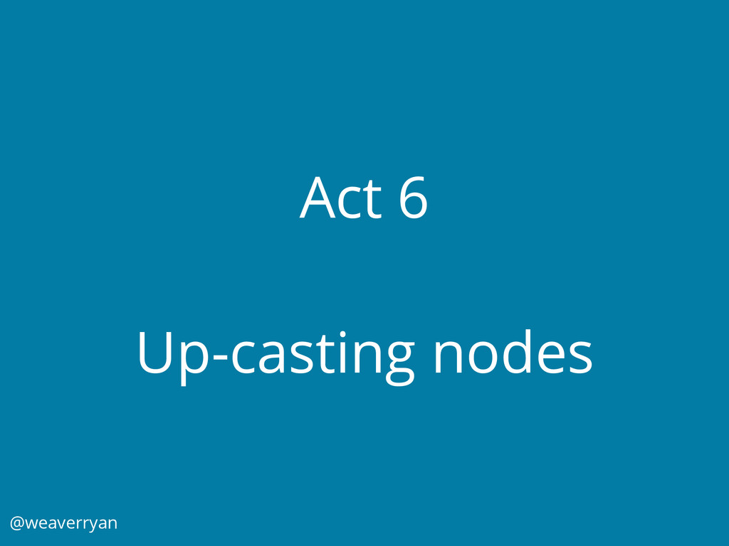 Act 6 Up-casting nodes @weaverryan