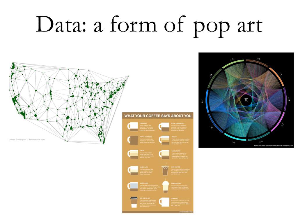 Data: a form of pop art