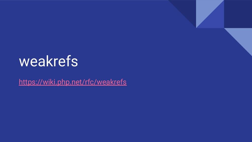 weakrefs https://wiki.php.net/rfc/weakrefs