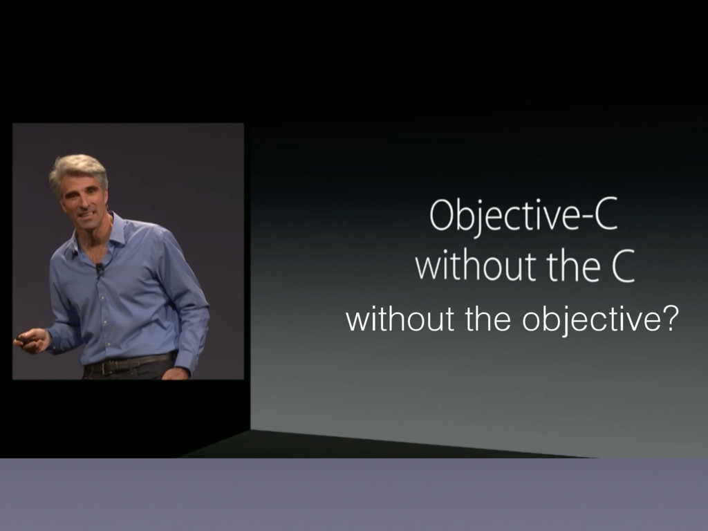 without the objective?