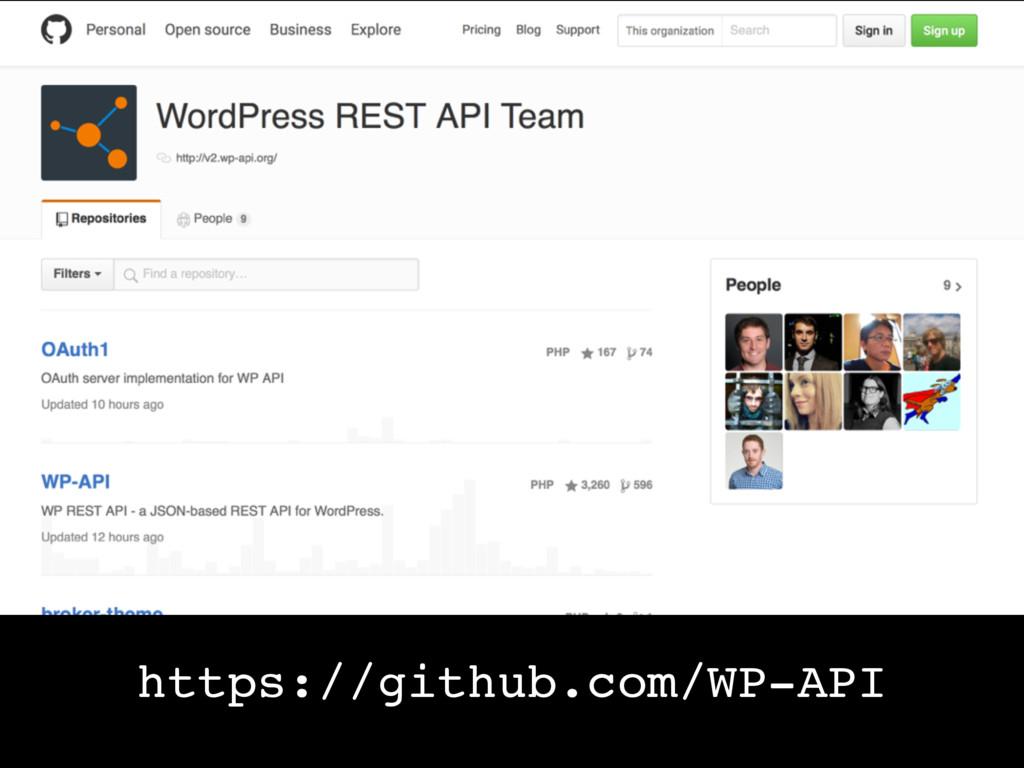 https://github.com/WP-API