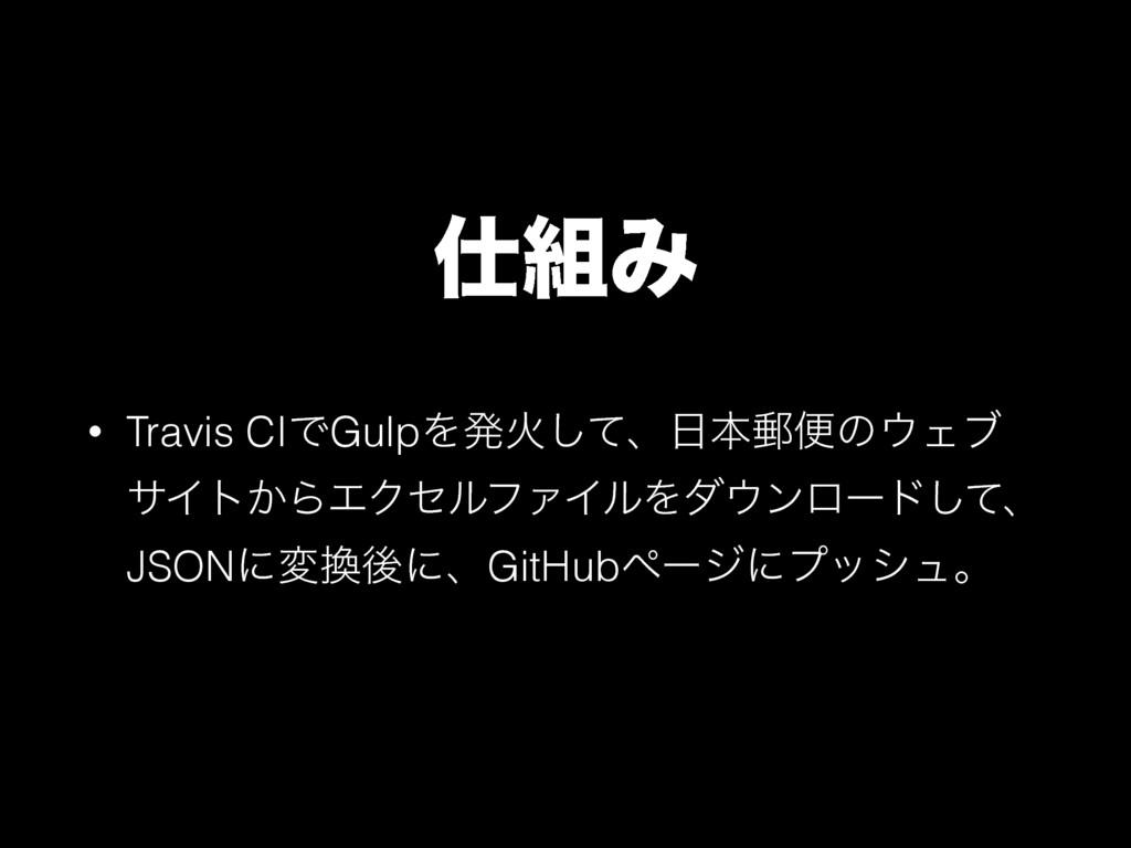 Έ • Travis CIͰGulpΛൃՐͯ͠ɺຊ༣ศͷΣϒ αΠτ͔ΒΤΫηϧϑΝΠ...