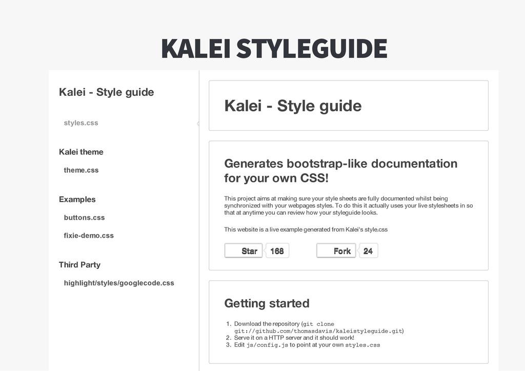 Kalei  -  Style  guide Kalei  theme Examples Th...