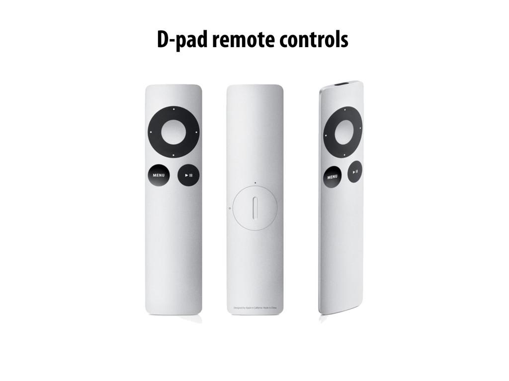 -pad remote controls D