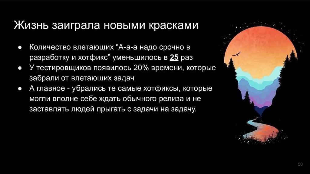 Жизнь заиграла новыми красками ● Количество вле...