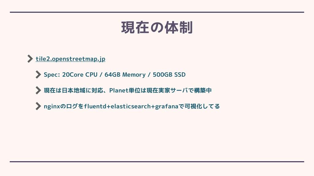 tile2.openstreetmap.jp Spec: 20Core CPU / 64GB ...