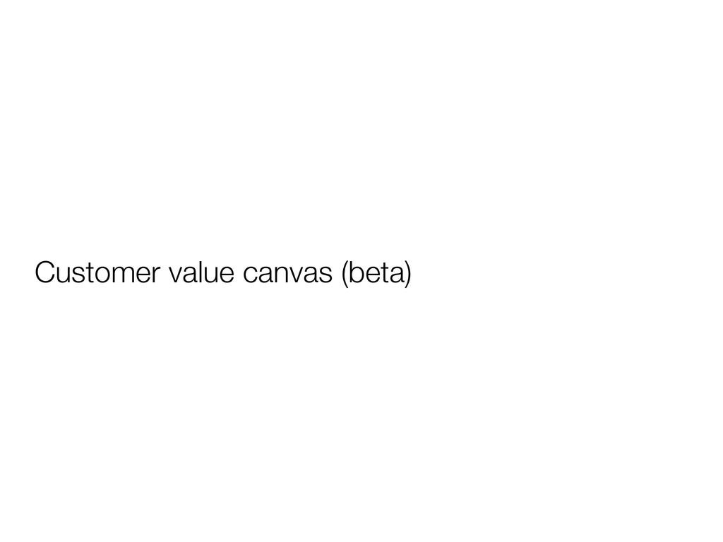 Customer value canvas (beta)