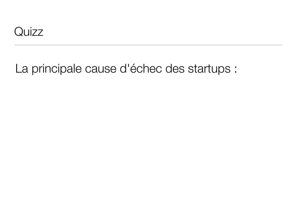 Quizz La principale cause d'échec des startups :