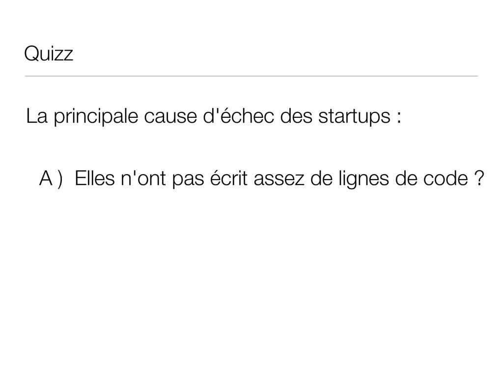 Quizz La principale cause d'échec des startups ...