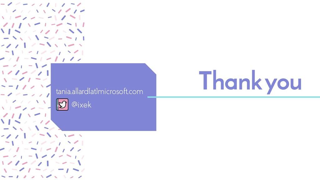 Thankyou tania.allard[at]microsoft.com @ixek