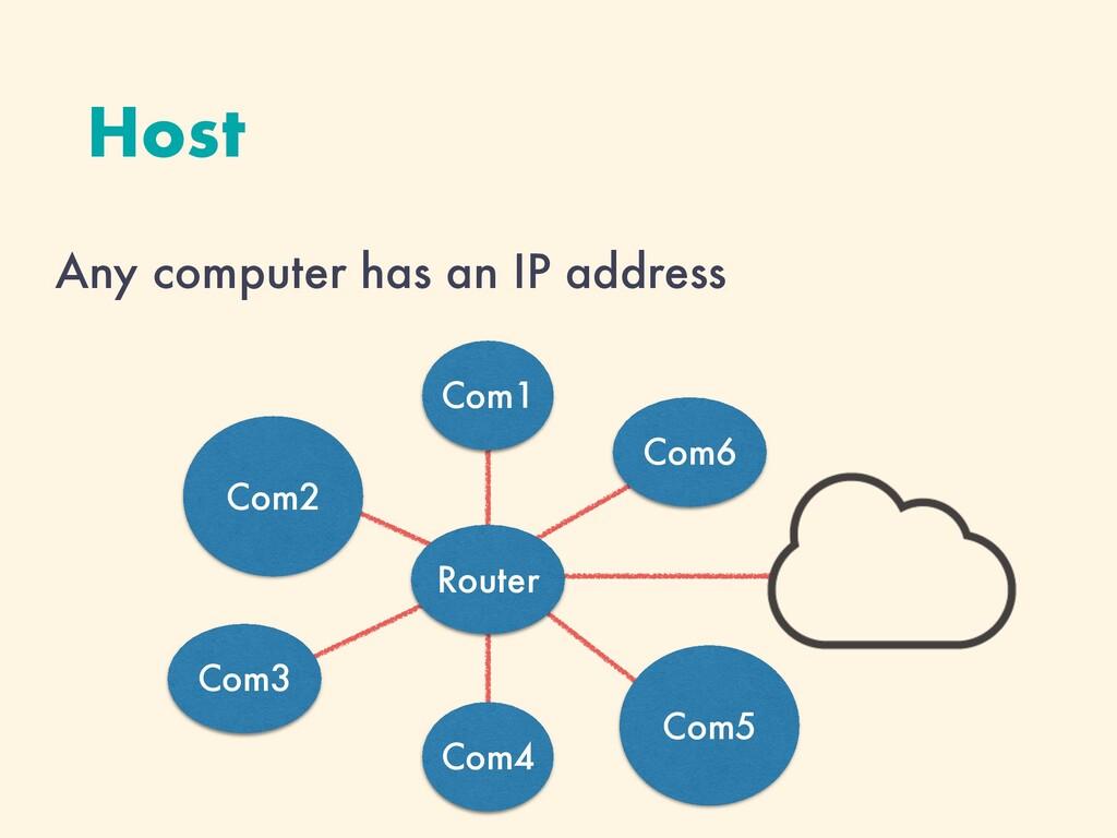Com4 Host Any computer has an IP address Com2 C...
