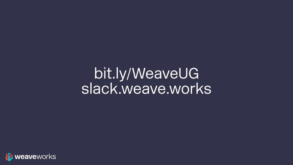 bit.ly/WeaveUG slack.weave.works