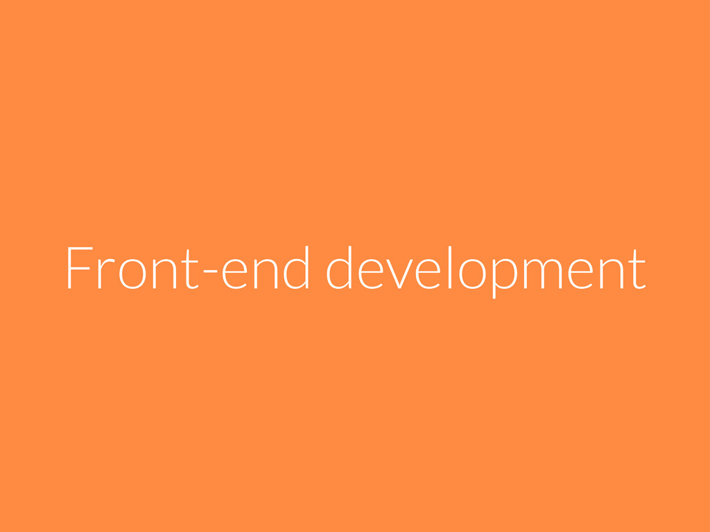 Front-end development