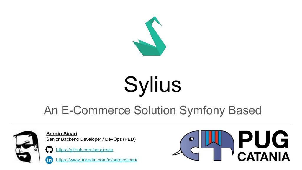 Sylius An E-Commerce Solution Symfony Based htt...