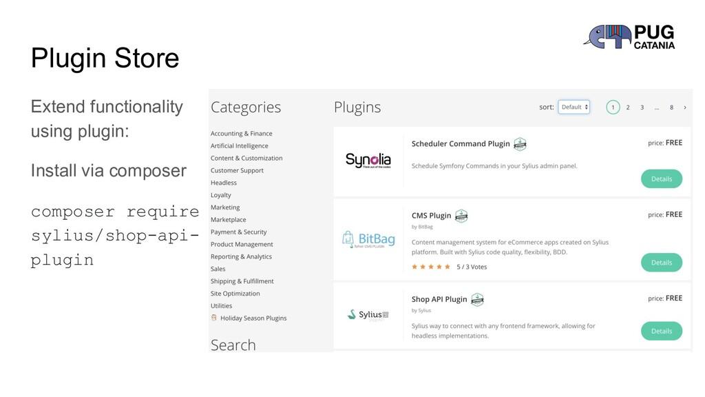 Plugin Store Extend functionality using plugin:...