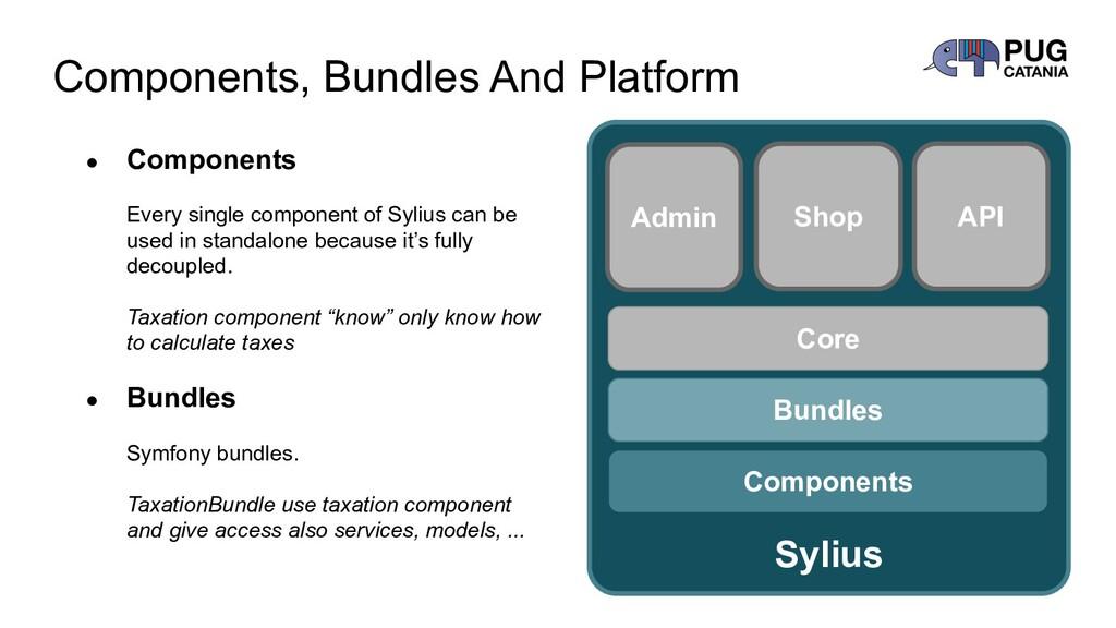 Components, Bundles And Platform Sylius Compone...