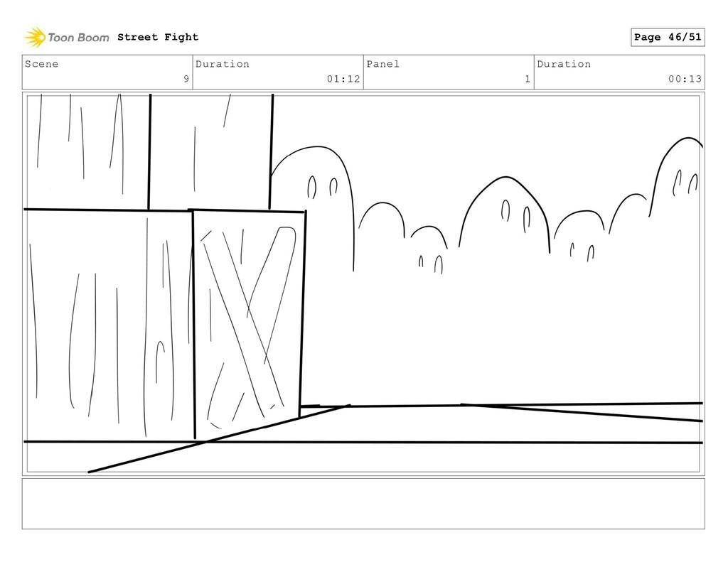 Scene 9 Duration 01:12 Panel 1 Duration 00:13 S...