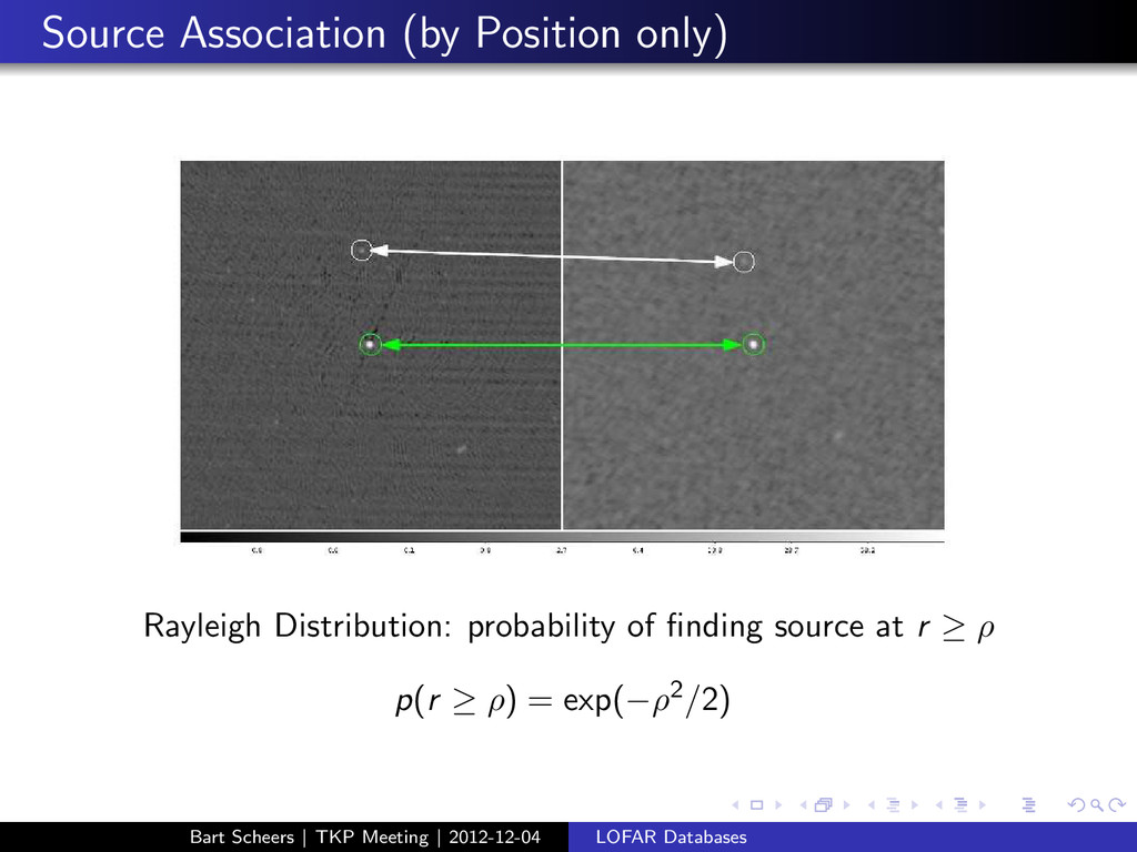 Source Association (by Position only) Rayleigh ...