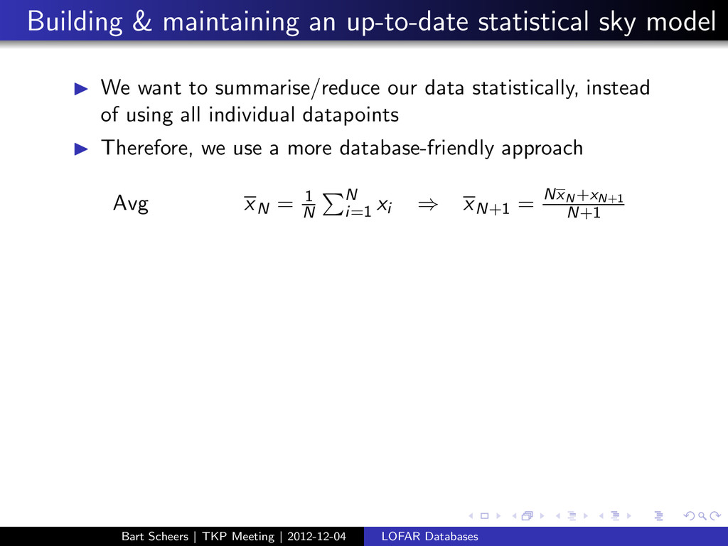 Building & maintaining an up-to-date statistica...