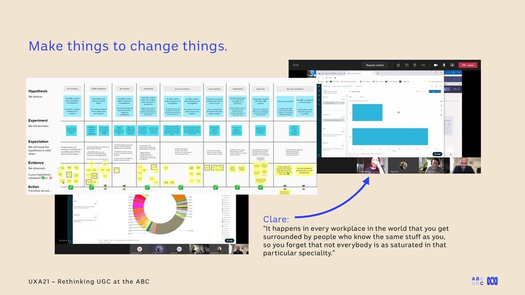 "UXA21 – Rethinking UGC at the ABC Clare:   ""It ..."