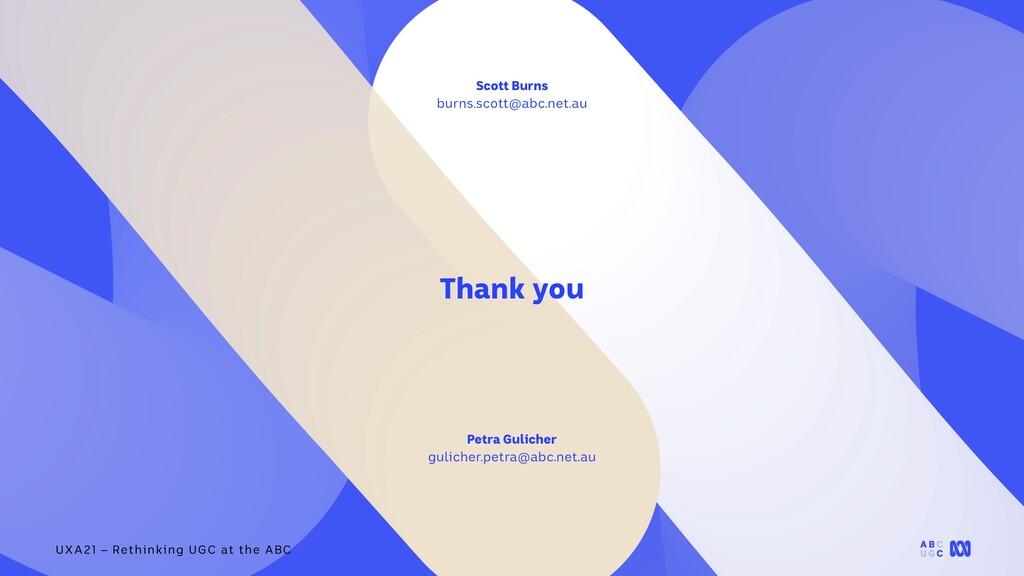 UXA21 – Rethinking UGC at the ABC Thank you Pet...