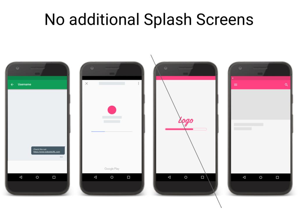 No additional Splash Screens