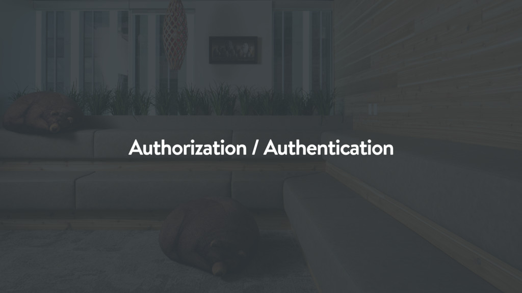 Authorization / Authentication