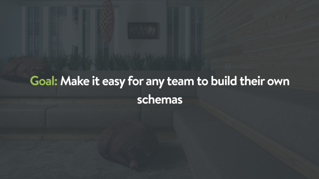 Goal: Make it easy for any team to build their ...