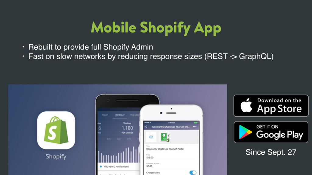Mobile Shopify App • Rebuilt to provide full Sh...