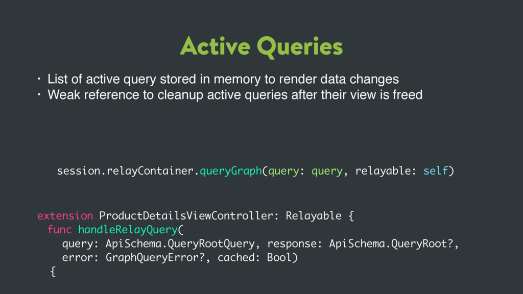 Active Queries • List of active query stored in...
