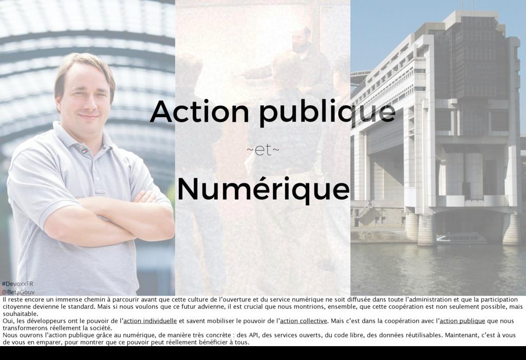 #DevoxxFR @BetaGouv Numérique ~et~ publique Act...
