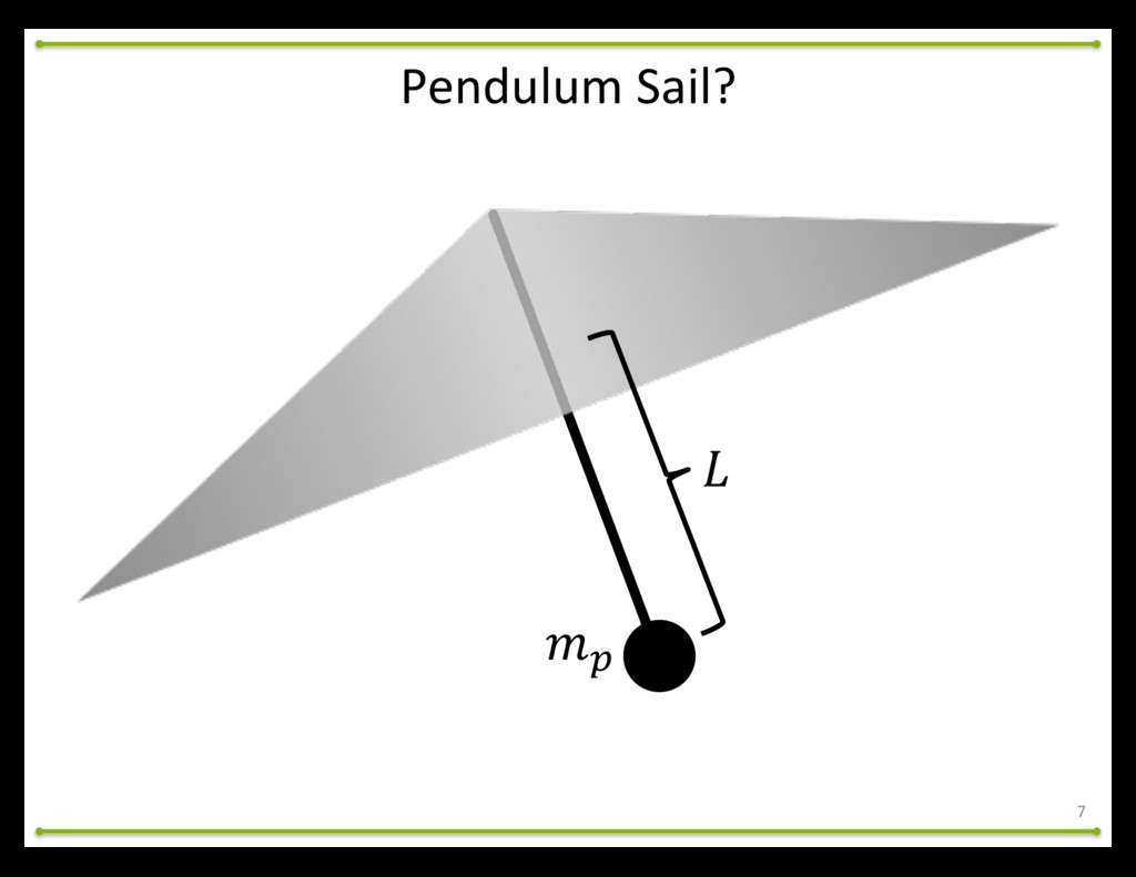 "7 Pendulum Sail? !"" #"