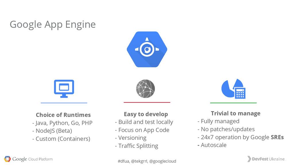 #dfua, @tekgrrl, @googlecloud Choice of Runtime...
